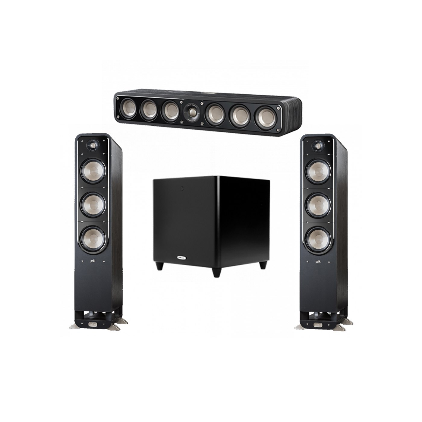 Polk Audio Signature 3.1 System with 2 S60 Tower Speaker, 1 Polk S35 Center Speaker, 1 Polk DSW PRO 660 wi Subwoofer
