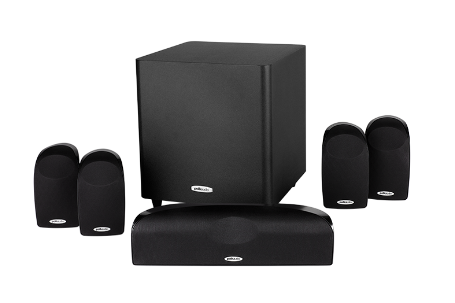 Polk Audio TL1600-5.1 Black 6-Piece Compact Surround Sound System