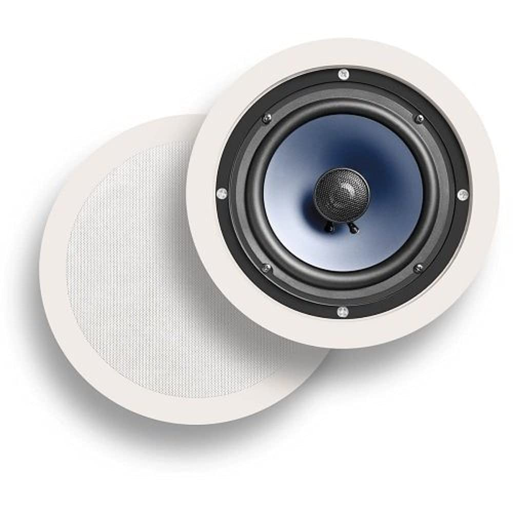 Polk Audio RCi Series RC60i White In-Ceiling Speakers with 6 1/2-Inch Drivers - Pair