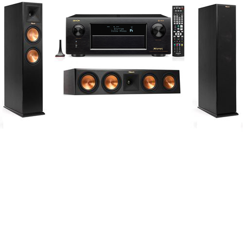 Klipsch RP-250F Tower Speakers-3.0-Denon AVR-X6300H