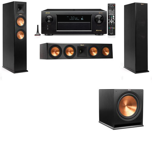 Klipsch RP-250F Tower Speakers-3.1-Denon AVR-X6300H