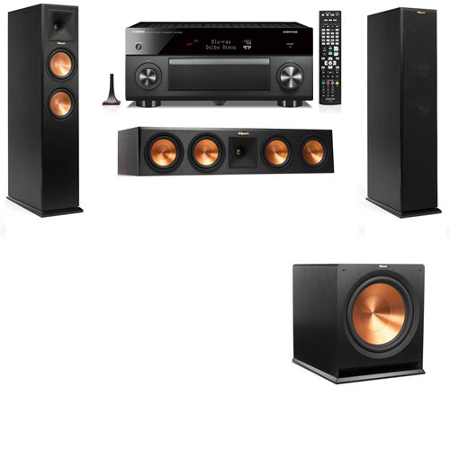 Klipsch RP-250F Tower Speakers-3.1-Yamaha RX-A3060