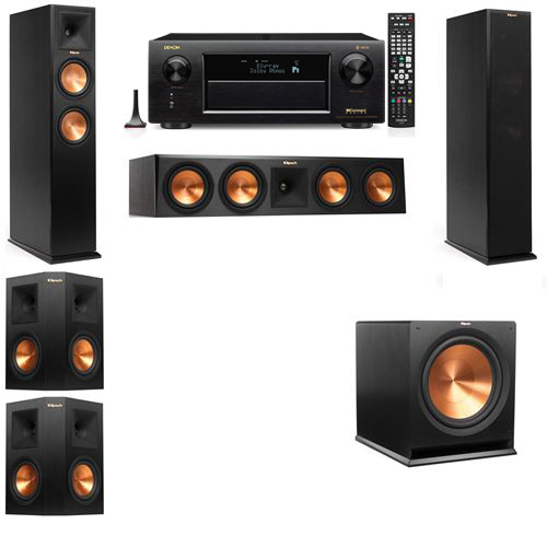 Klipsch RP-250F Tower Speakers-5.1-Denon AVR-X6300H