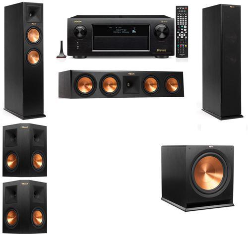 Klipsch RP-250F Tower Speakers-5.1-Denon AVR-X6300H
