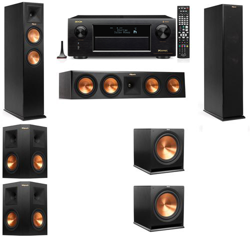 Klipsch RP-250F Tower Speakers-5.2-Denon AVR-X6300H