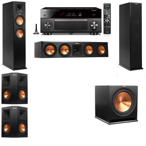 Klipsch RP-250F Tower Speakers-5.1-Yamaha RX-A3060