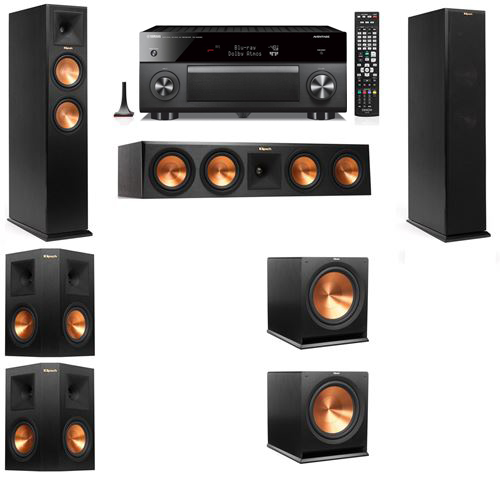 Klipsch RP-250F Tower Speakers-5.2-Yamaha RX-A3060