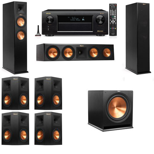 Klipsch RP-250F Tower Speakers-7.1-Denon AVR-X6300H