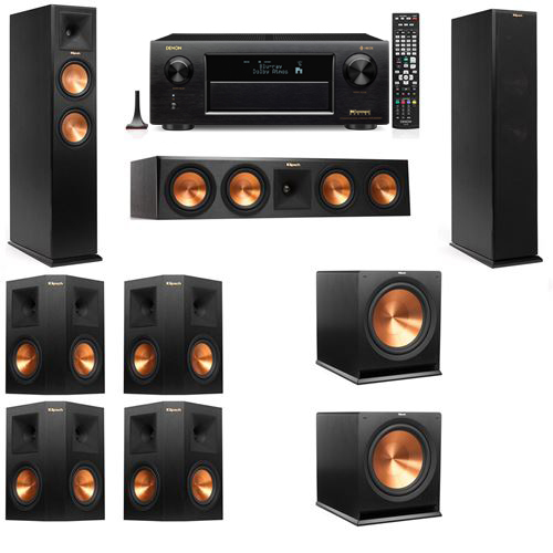 Klipsch RP-250F Tower Speakers-7.2-Denon AVR-X6300H