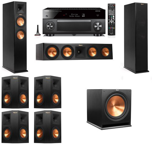 Klipsch RP-250F Tower Speakers-7.1-Yamaha RX-A3060