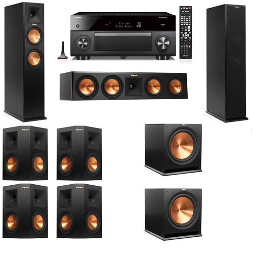 Klipsch RP-250F Tower Speakers-7.2-Yamaha RX-A3060