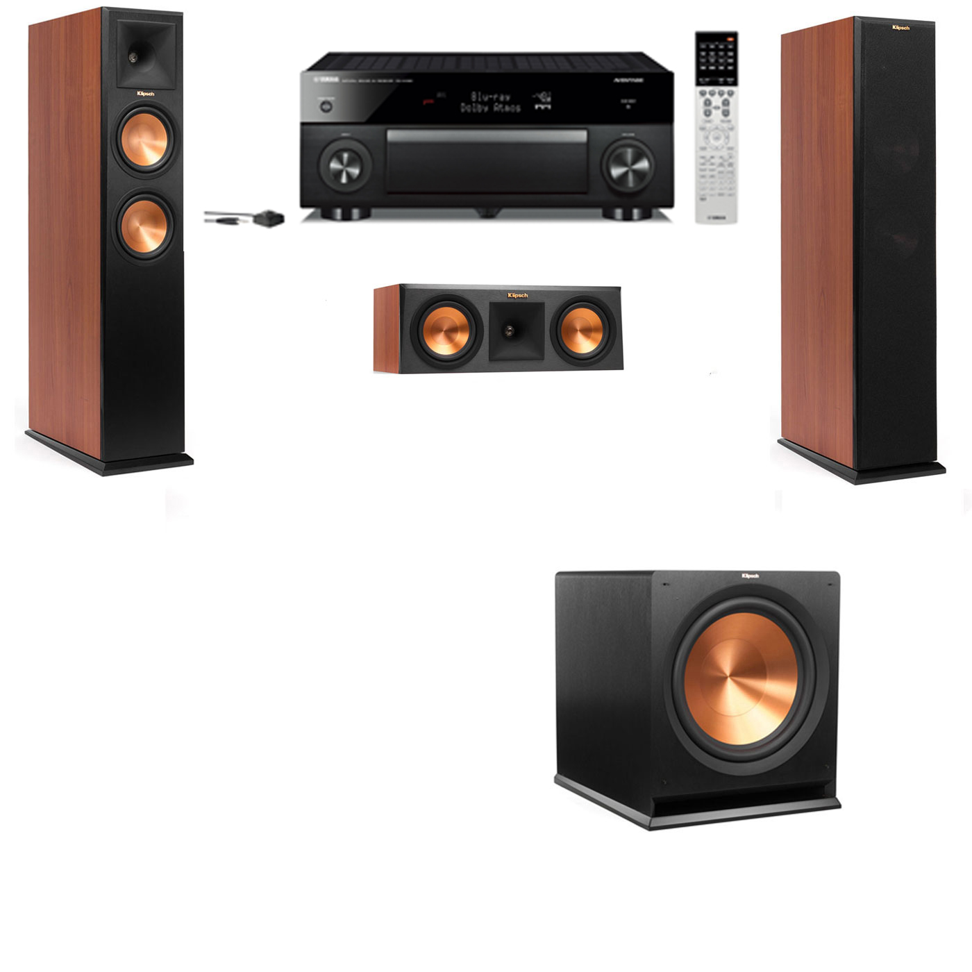 Klipsch RP-250F Tower Speakers CH-3.1-Yamaha RX-A1060