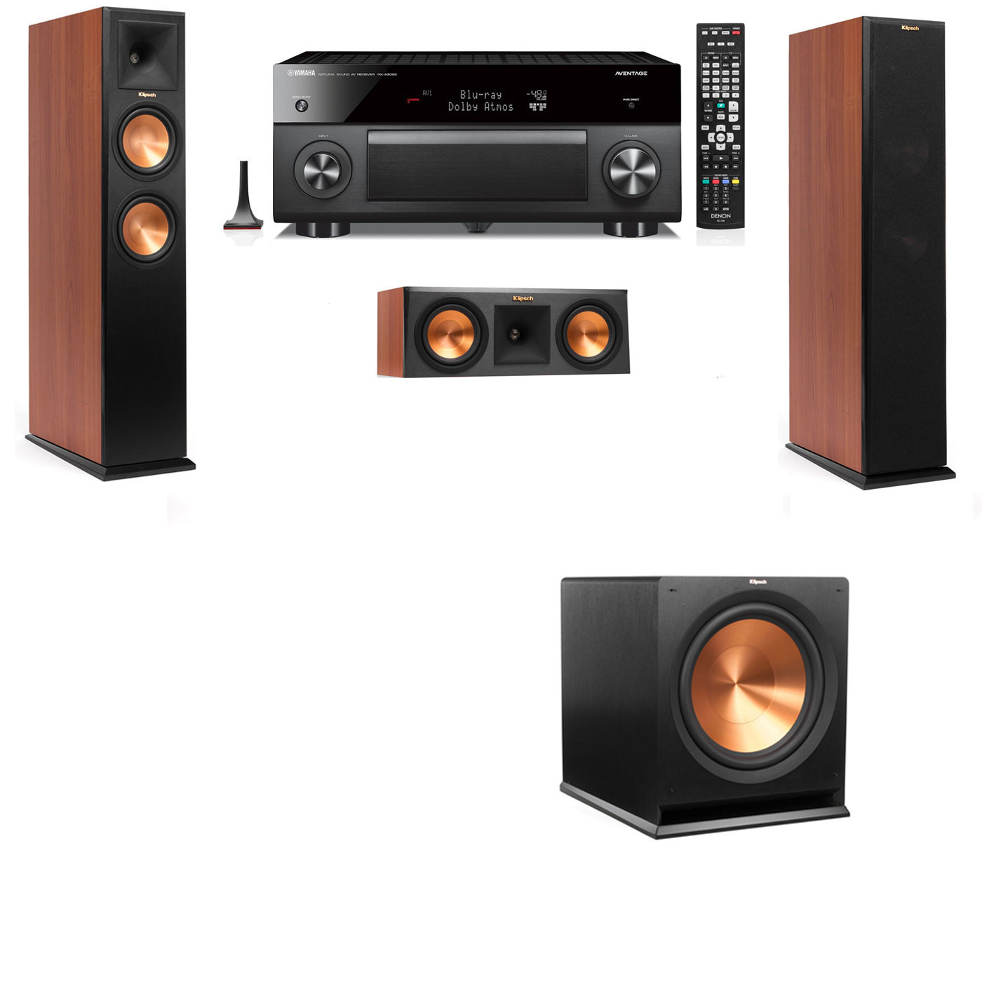 Klipsch RP-250F Tower Speakers CH-3.1-Yamaha RX-A3060