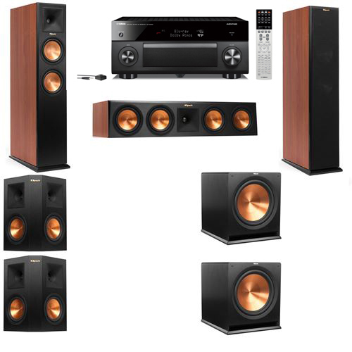 Klipsch RP-250F Tower Speakers CH-5.2-Yamaha RX-A2060