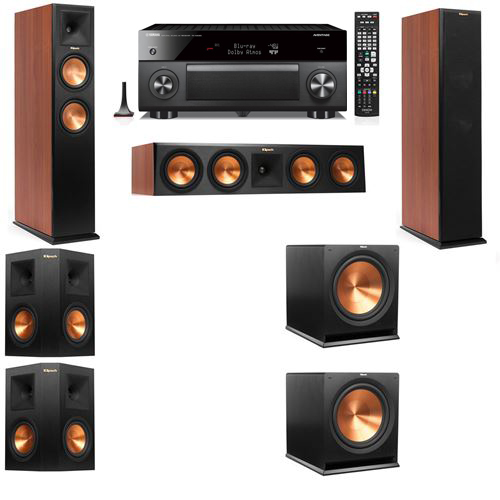 Klipsch RP-250F Tower Speakers CH-5.2-Yamaha RX-A3060