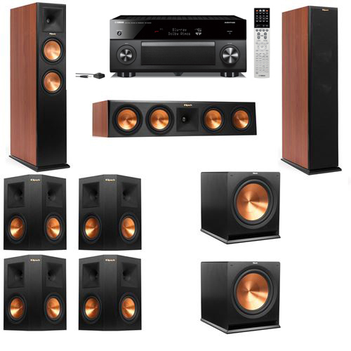 Klipsch RP-250F Tower Speakers CH-7.2-Yamaha RX-A2060