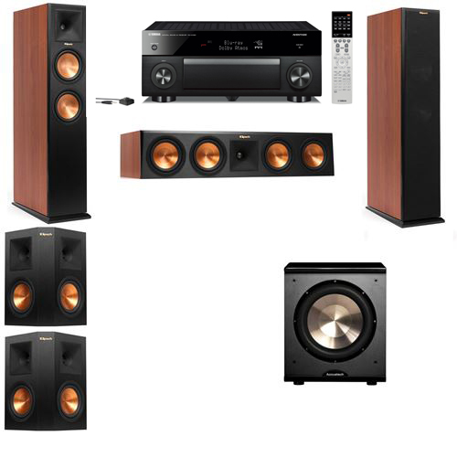 Klipsch RP-250F Tower Speakers CH-PL-200-5.1-Yamaha RX-A1060