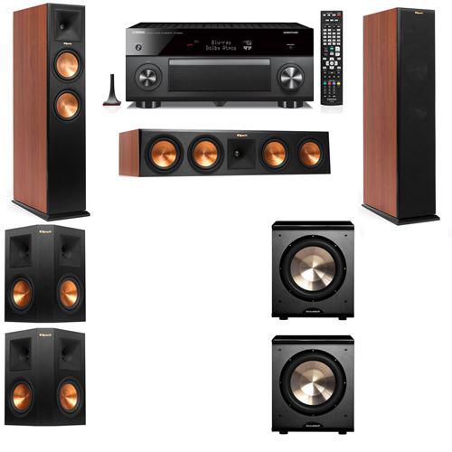 Klipsch RP-250F Tower Speakers CH-PL-200-5.2-Yamaha RX-A3060
