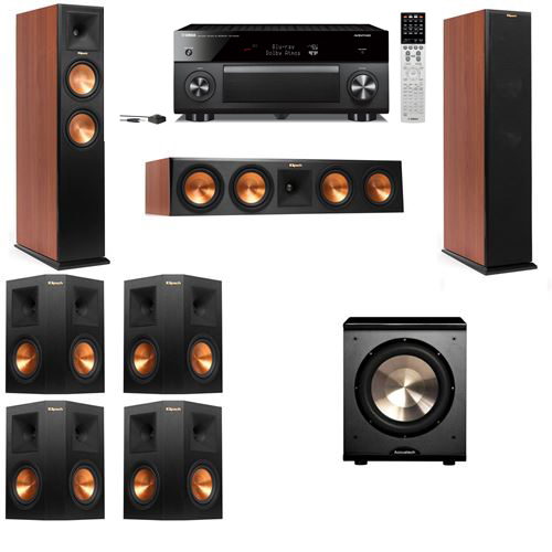 Klipsch RP-250F Tower Speakers CH-PL-200-7.1-Yamaha RX-A2060