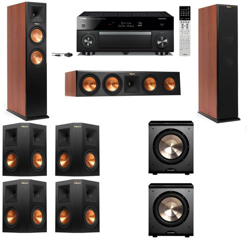 Klipsch RP-250F Tower Speakers CH-PL-200-7.2-Yamaha RX-A1060