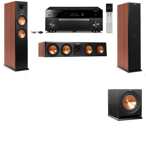 Klipsch RP-250F Tower Speakers CH-R112SW-3.1-Yamaha RX-A1060