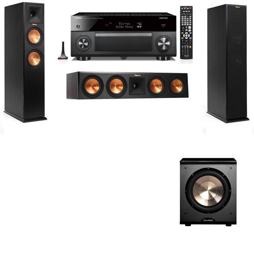 Klipsch RP-250F Tower Speakers-PL-200-3.1-Yamaha RX-A3060