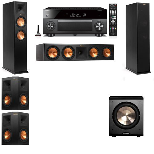 Klipsch RP-250F Tower Speakers-PL-200-5.1-Yamaha RX-A3060