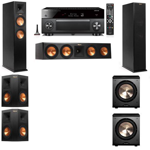Klipsch RP-250F Tower Speakers-PL-200-5.2-Yamaha RX-A3060