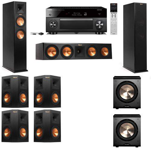 Klipsch RP-250F Tower Speakers-PL-200-7.2-Yamaha RX-A2060