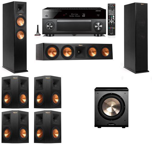 Klipsch RP-250F Tower Speakers-PL-200-7.1-Yamaha RX-A3060