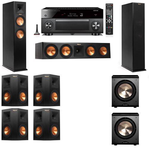 Klipsch RP-250F Tower Speakers-PL-200-7.2-Yamaha RX-A3060