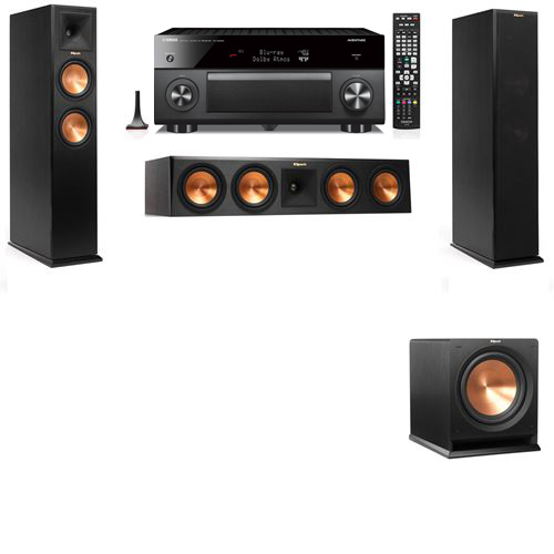 Klipsch RP-250F Tower Speakers-R112SW-3.1-Yamaha RX-A3060
