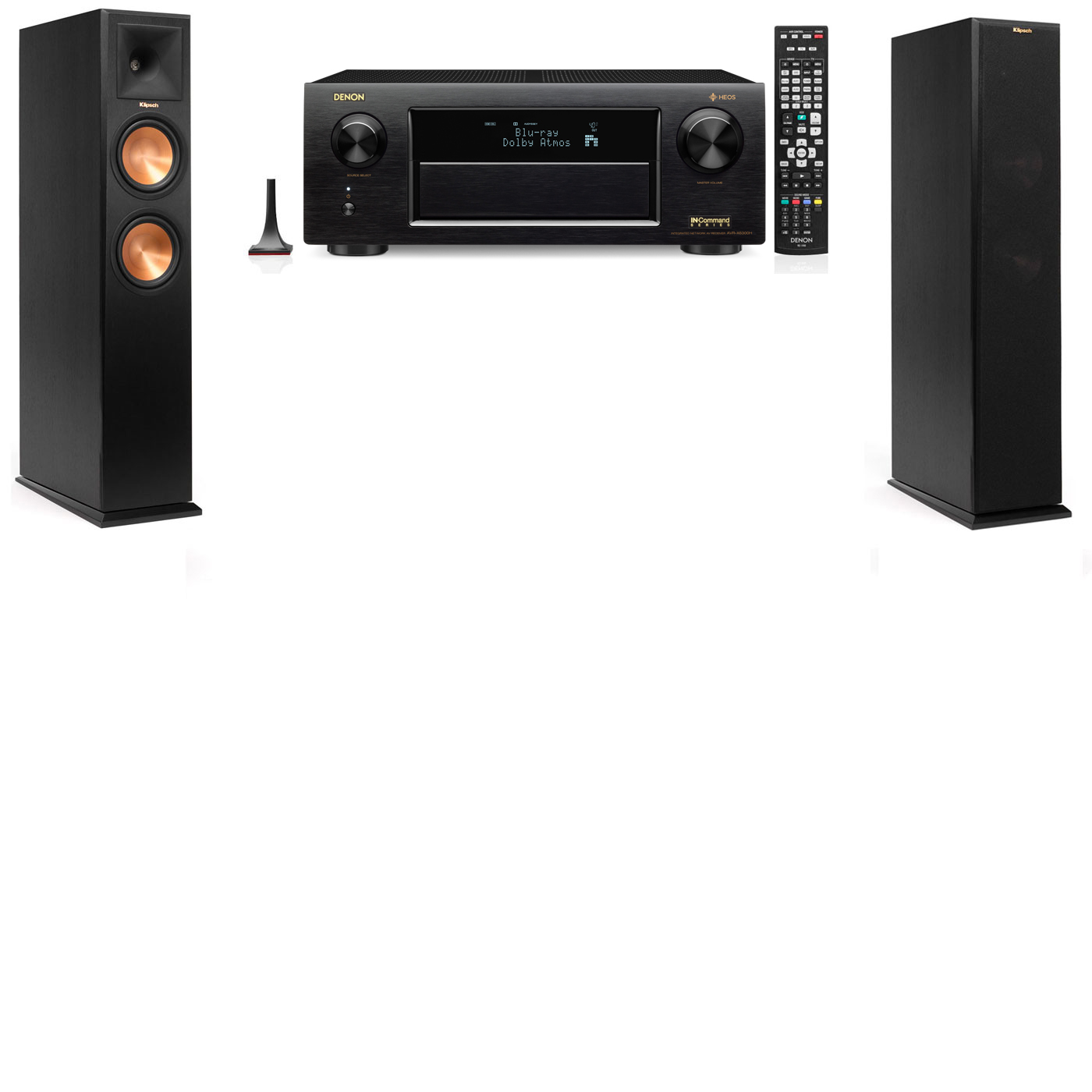 Klipsch RP-250F Tower Speakers-Denon AVR-X6300H