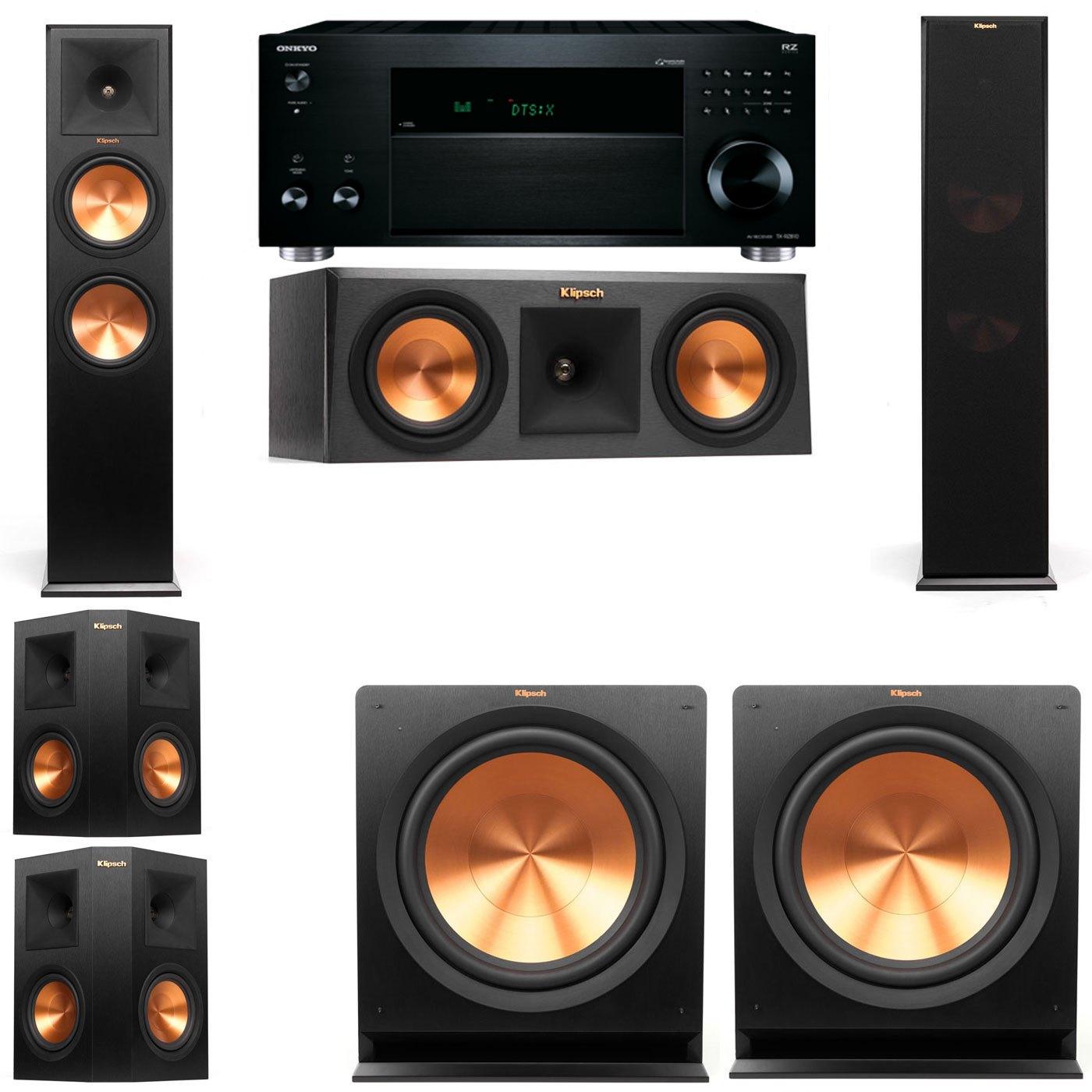 Klipsch RP-280F Tower Speakers-RP-250C-R112SW-5.2-Onkyo TX-RZ810