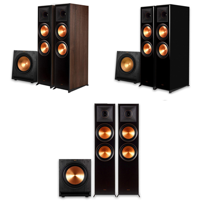 Klipsch RP-8000F 2.1 Home Theater Bundle with Free SPL-120 Subwoofer