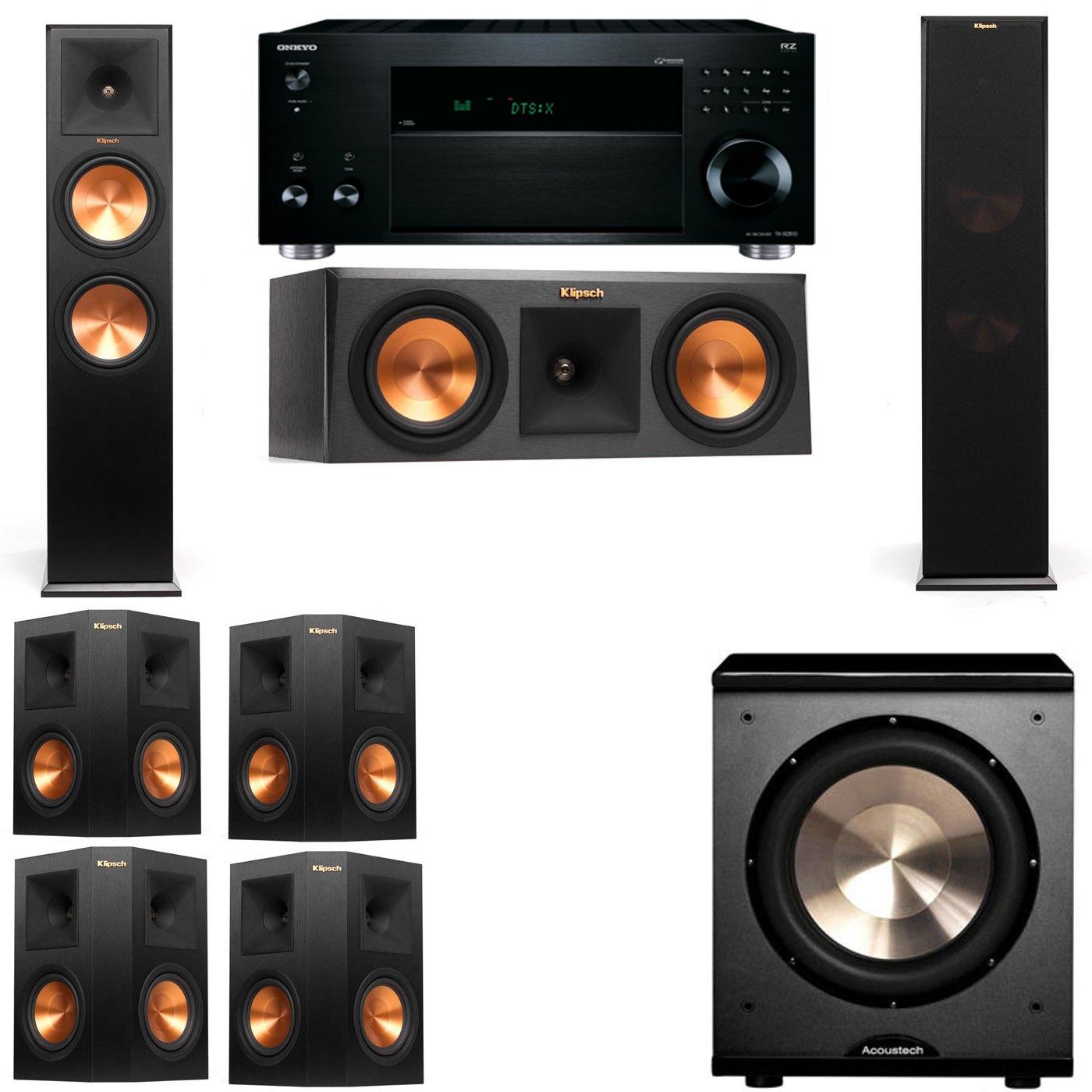 Klipsch RP-280F Tower Speakers-RP-250C-PL-200-7.1-Onkyo TX-RZ810