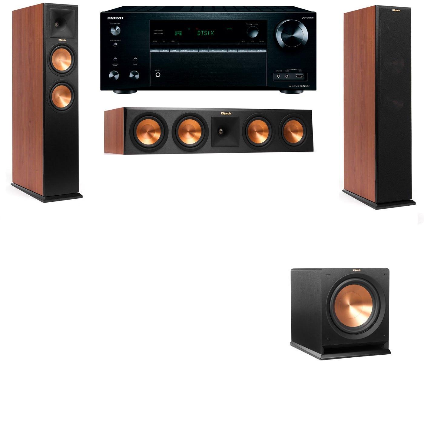 Klipsch RP-250F Tower Speakers CH-R112SW-3.1-Onkyo TX-NR757