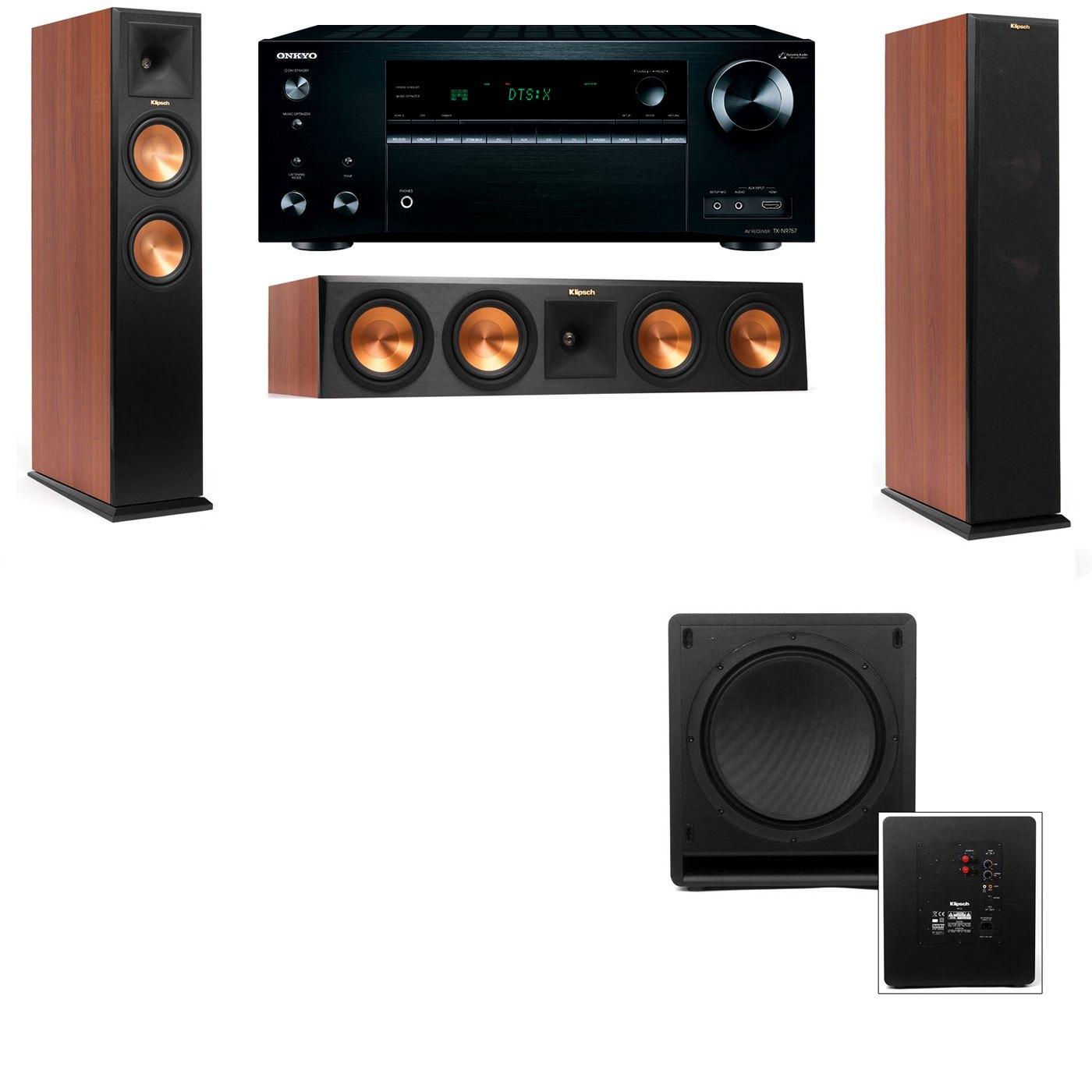 Klipsch RP-250F Tower Speakers CH-SW-112-3.1-Onkyo TX-NR757