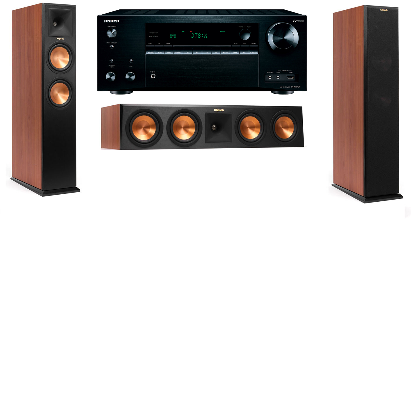 Klipsch RP-250F Tower Speakers CH-3.0-Onkyo TX-NR757