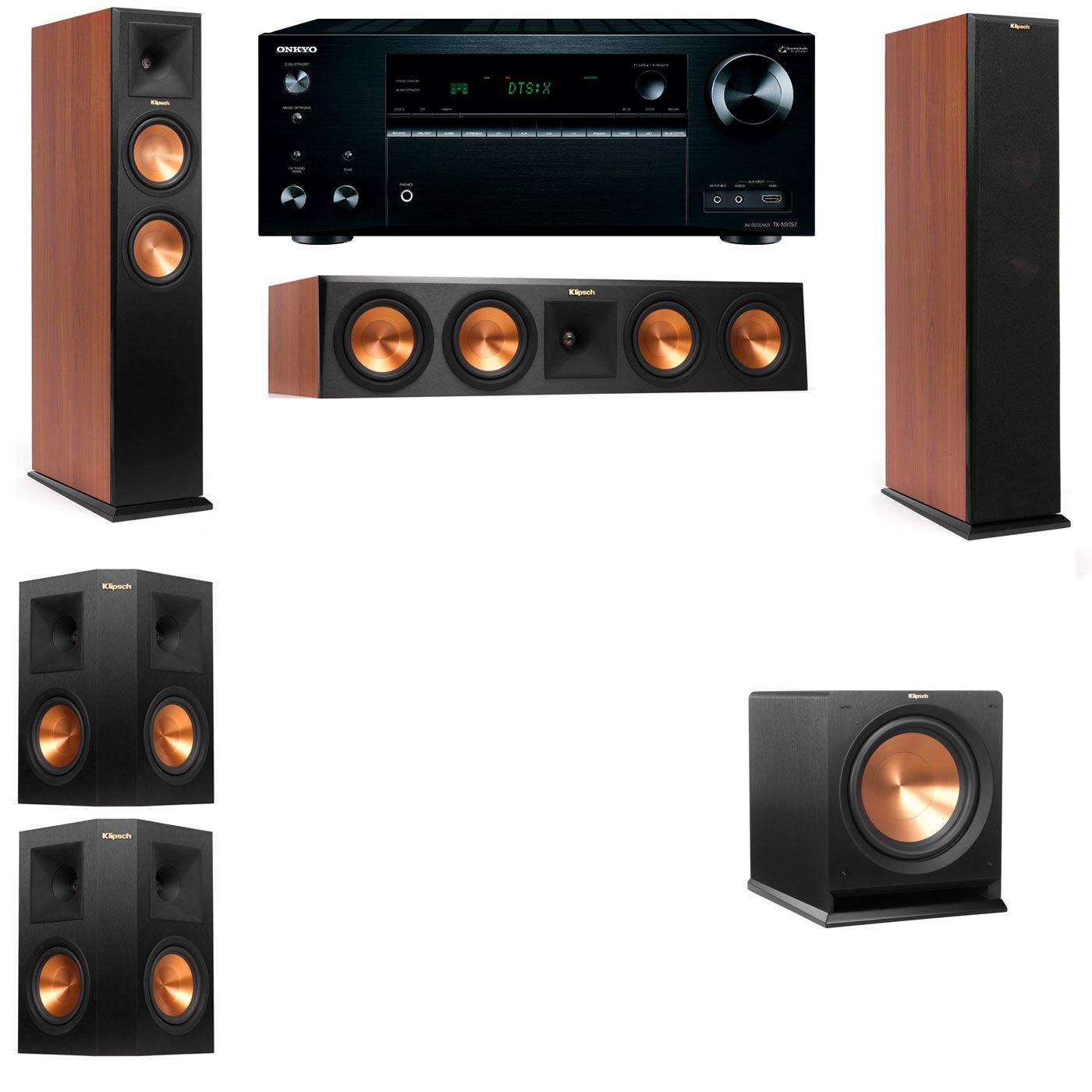 Klipsch RP-250F Tower Speakers CH-R112SW-5.1-Onkyo TX-NR757