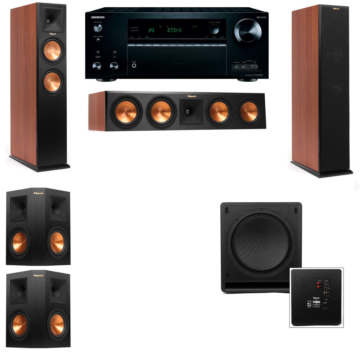 Klipsch RP-250F Tower Speakers CH-SW-112-5.1-Onkyo TX-NR757
