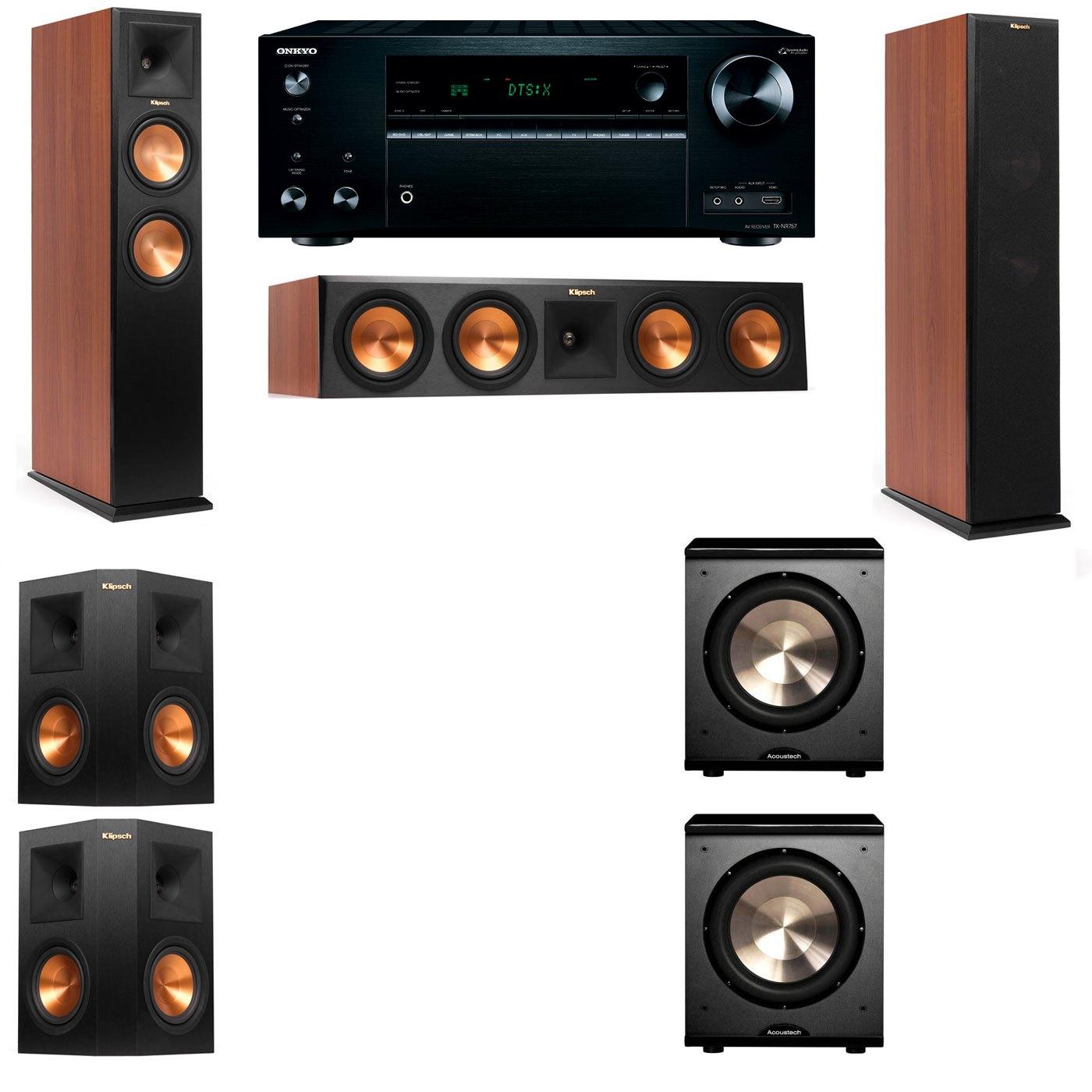 Klipsch RP-250F Tower Speakers CH-PL-200-5.2-Onkyo TX-NR757
