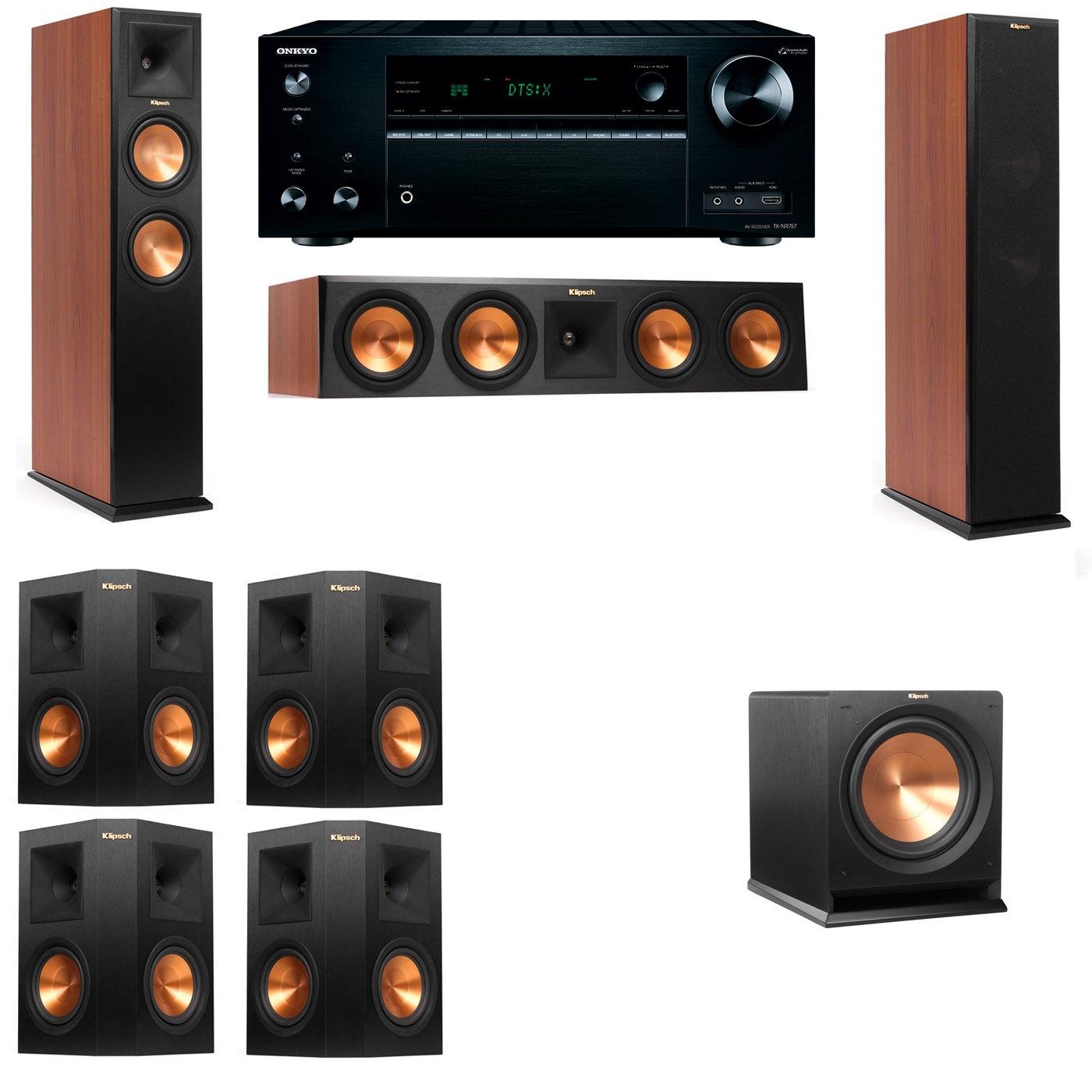 Klipsch RP-250F Tower Speakers CH-R112SW-7.1-Onkyo TX-NR757
