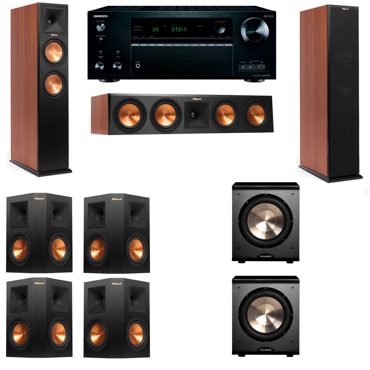 Klipsch RP-250F Tower Speakers CH-PL-200-7.2-Onkyo TX-NR757