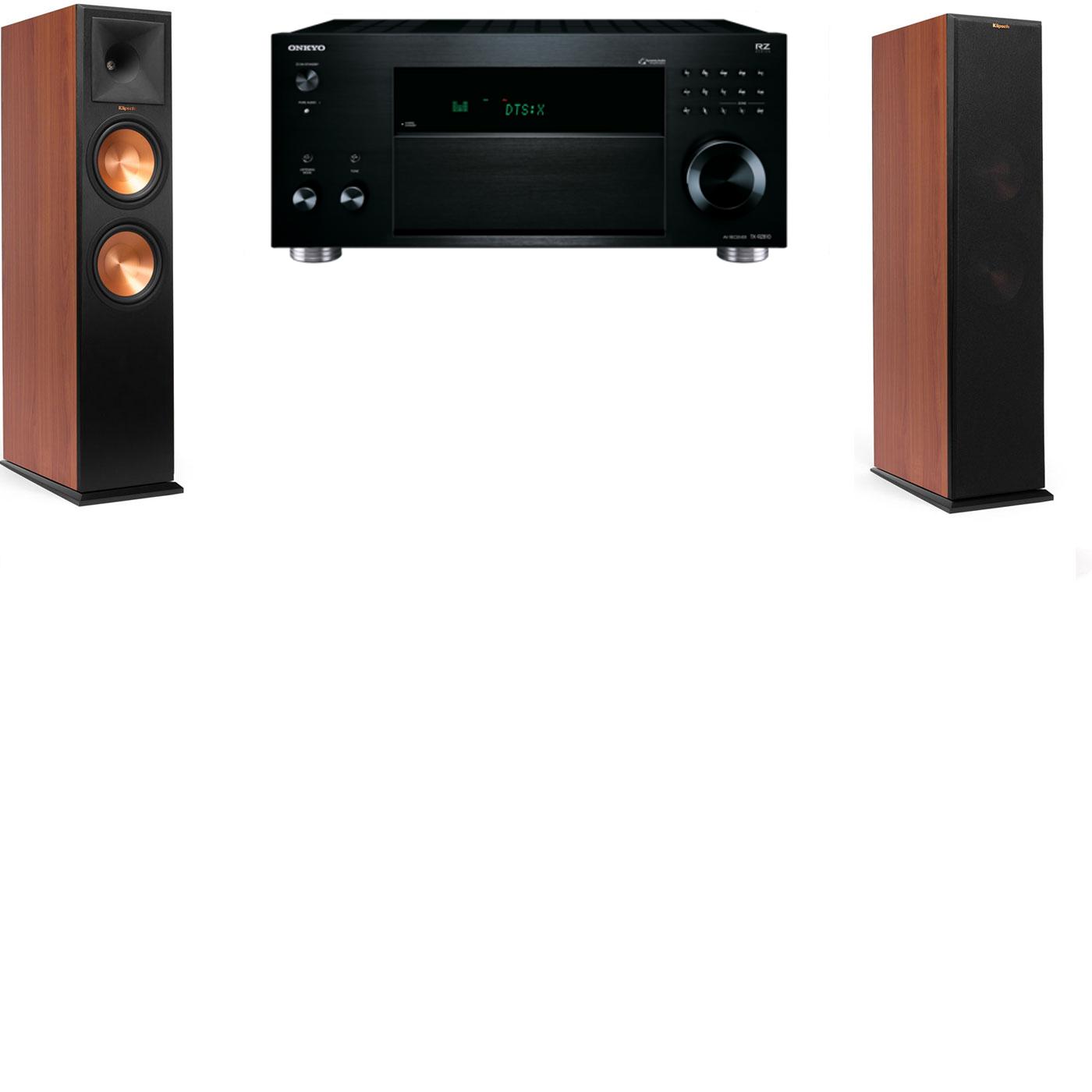 Klipsch RP-260F CH Tower Speakers-Onkyo TX-RZ810