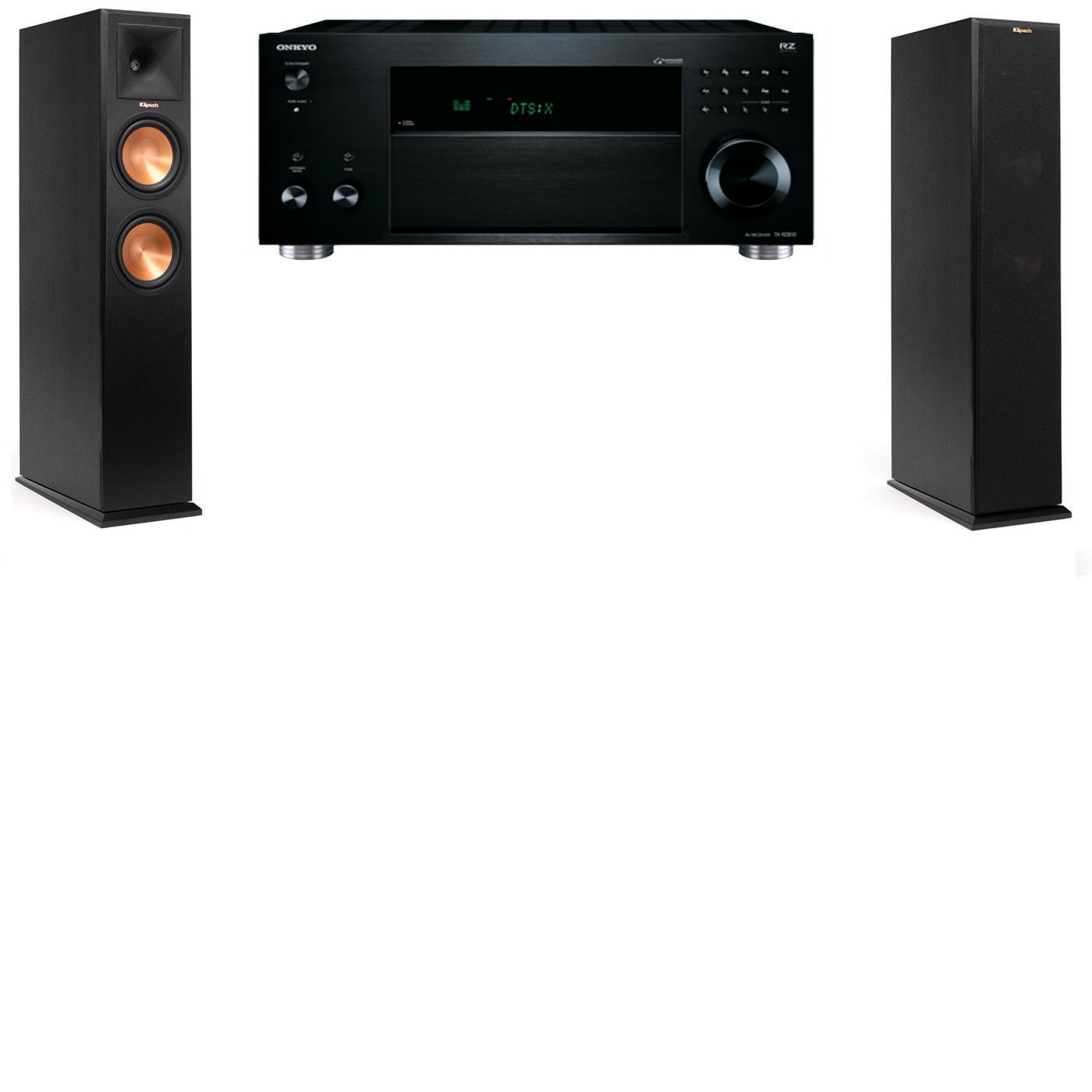 Klipsch RP-260F Tower Speakers-Onkyo TX-RZ810