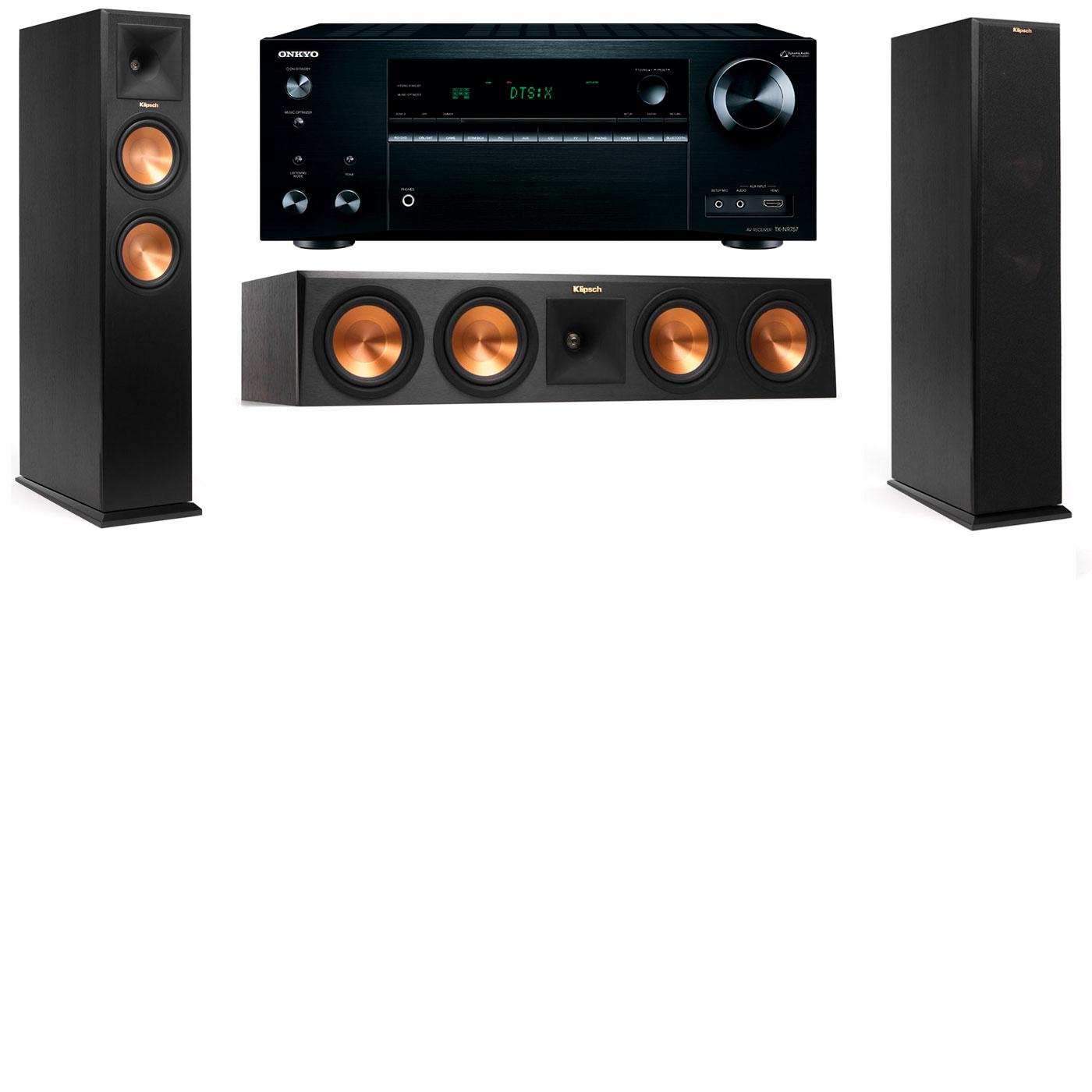 Klipsch RP-250F Tower Speakers-3.0-Onkyo TX-NR757