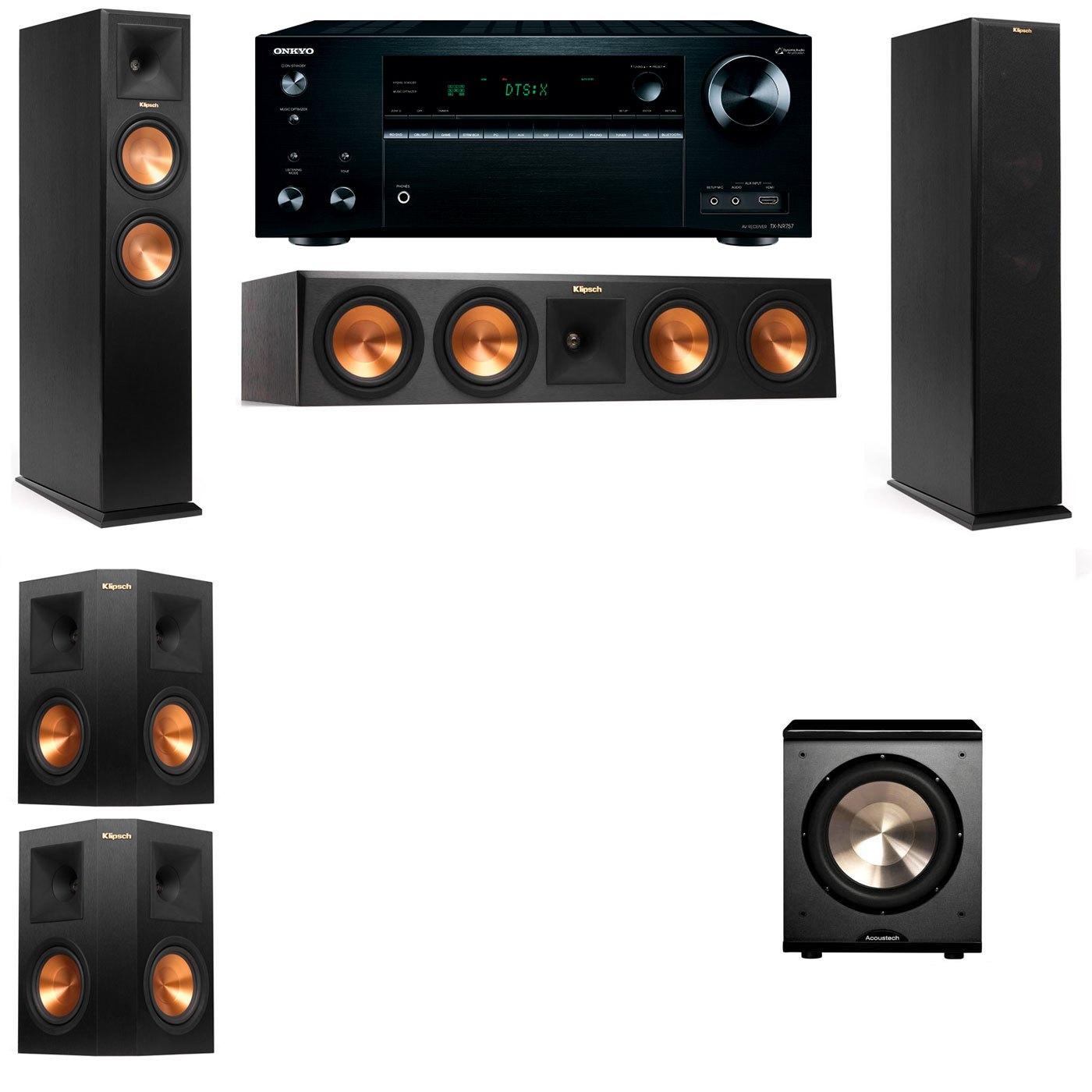 Klipsch RP-250F Tower Speakers-PL-200-5.1-Onkyo TX-NR757
