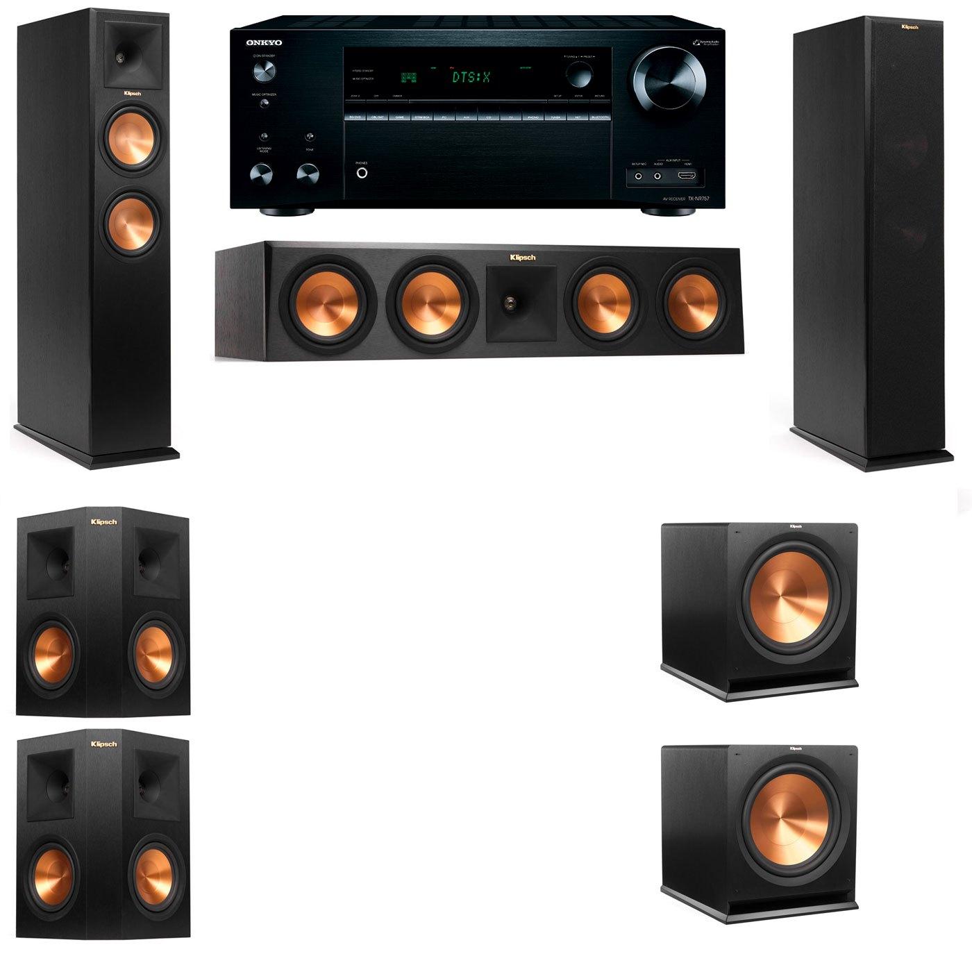 Klipsch RP-250F Tower Speakers-5.2-Onkyo TX-NR757
