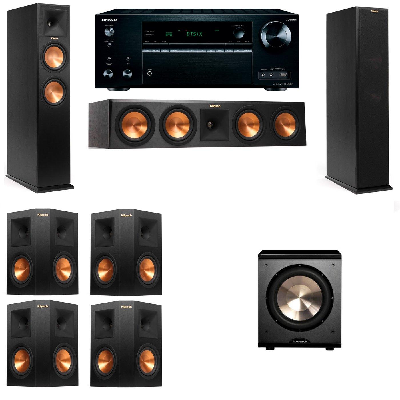 Klipsch RP-250F Tower Speakers-PL-200-7.1-Onkyo TX-NR757